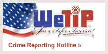 WeTip crime reporting hotline