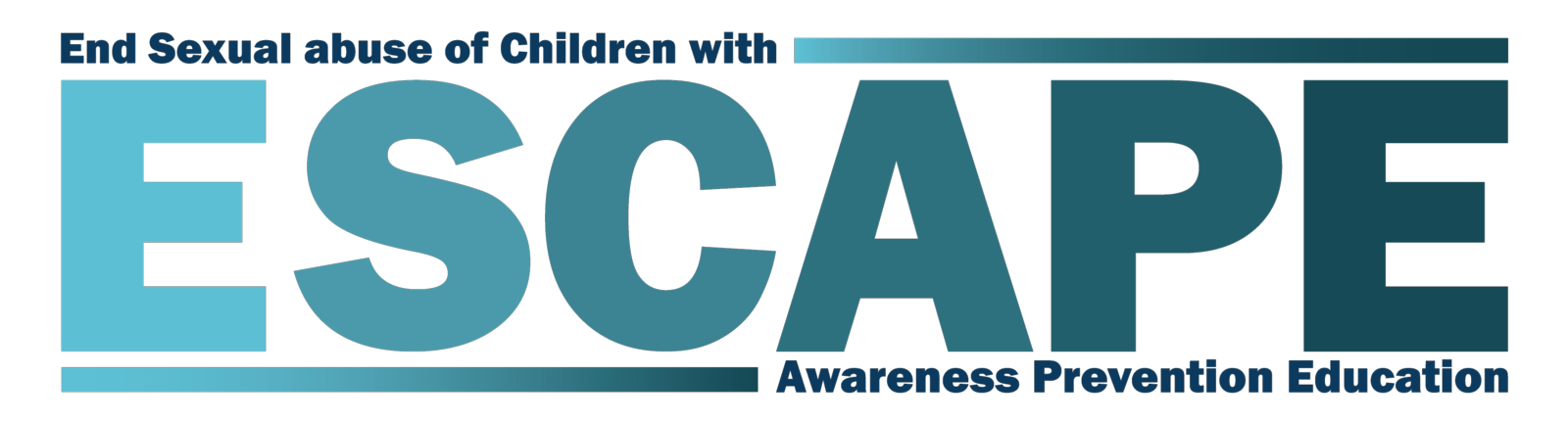 ESCAPE Program Logo: End Sexual abuse of Children with Awareness, Prevention and Education